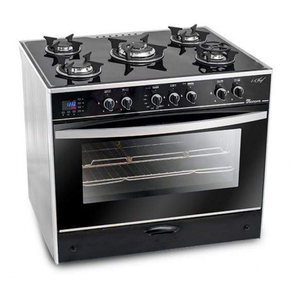 unionaire-c6090gs-ac-383-idsh-s-i-chef-5-burners-gas-cooker-60-90-cm