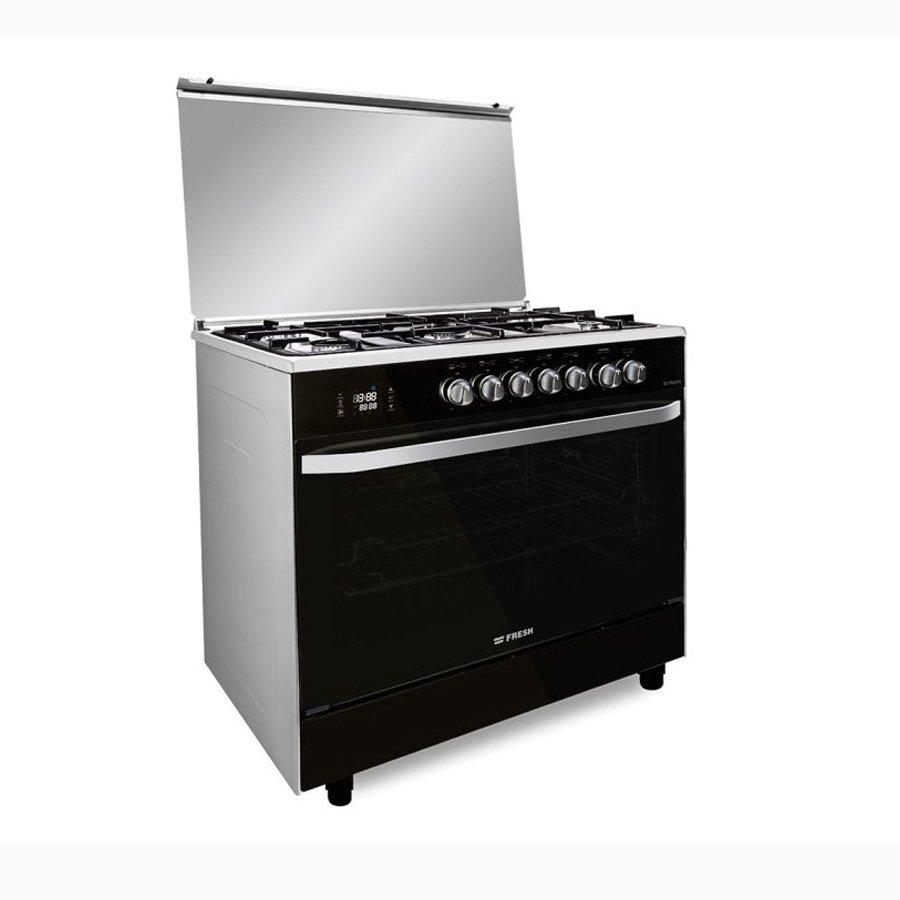 بوتاجاز فريش هامر ديجيتال 5 شعلة غاز 90 سم اسود Selector Home Appliances