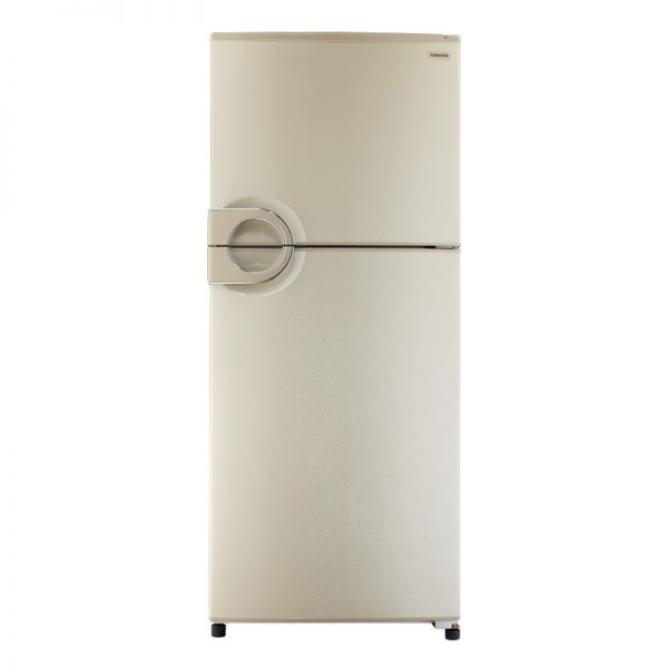 toshiba-refrigerator-2-doors-no-frost-gold-color-378-liter-circular-handle-gr-ef40p-j-g
