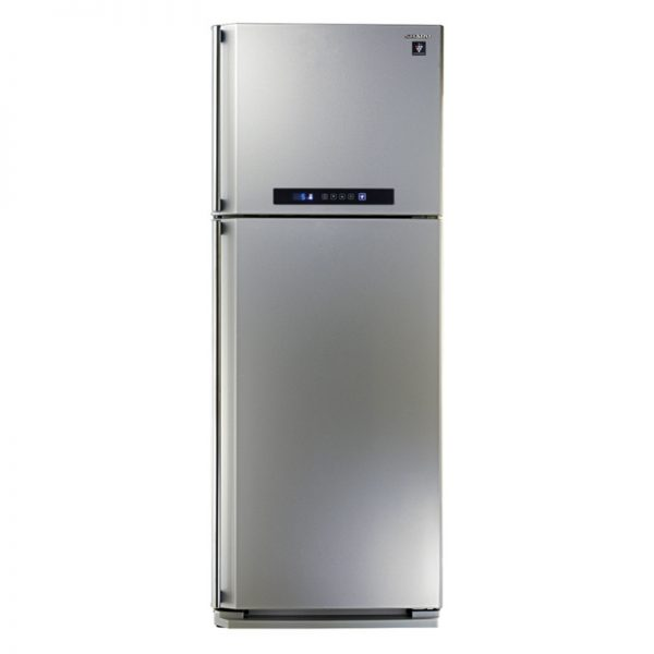 sharp-refrigerator-digital-no-frost-450-liter-2-doors-in-silver-color-with-plasmacluster-sj-pc58a-sl