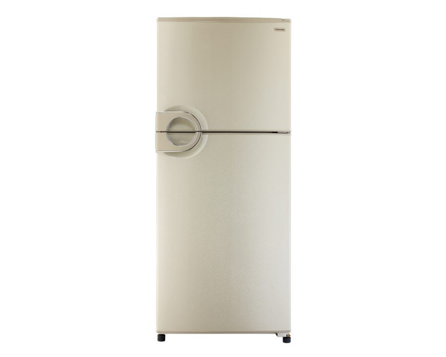 toshiba-refrigerator-no-frost-349-liter-2-door-in-gold-color-with-circular-handle-gr-ef37-j-g