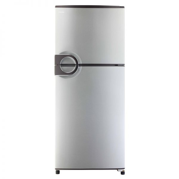 toshiba-refrigerator-no-frost-349-liter-2-door-in-silver-color-with-circular-handle-gr-ef37-j-s