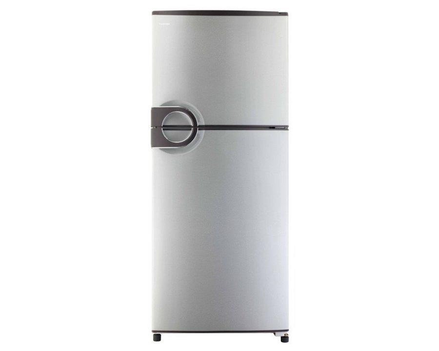 toshiba-refrigerator-no-frost-349-liter-2-door-in-silver-color-with-circular-handle-gr-ef37-j-s