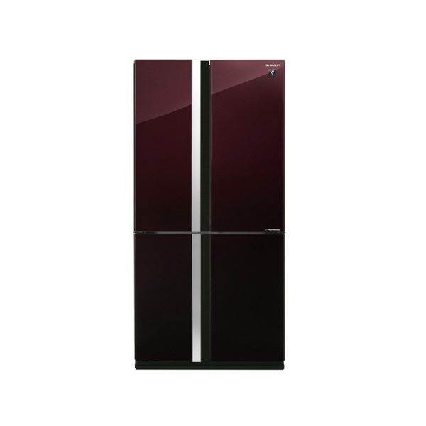sharp-refrigerator-inverter-digital-advanced-no-frost-605-liter-4-glass-doors-red-color-sj-fs87v-rd