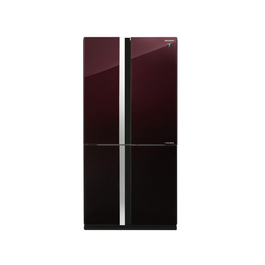 sharp-refrigerator-inverter-digital-advanced-no-frost-605-liter-4-glass-doors-red-color-sj-fs87v-rd