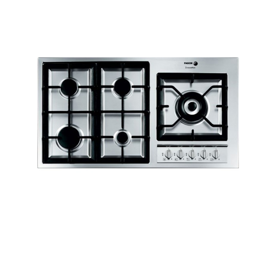 fagor-gas-built-in-hob-5-burner-90-cm-stainless-steel-cast-iron-5FI-95GLSTXA
