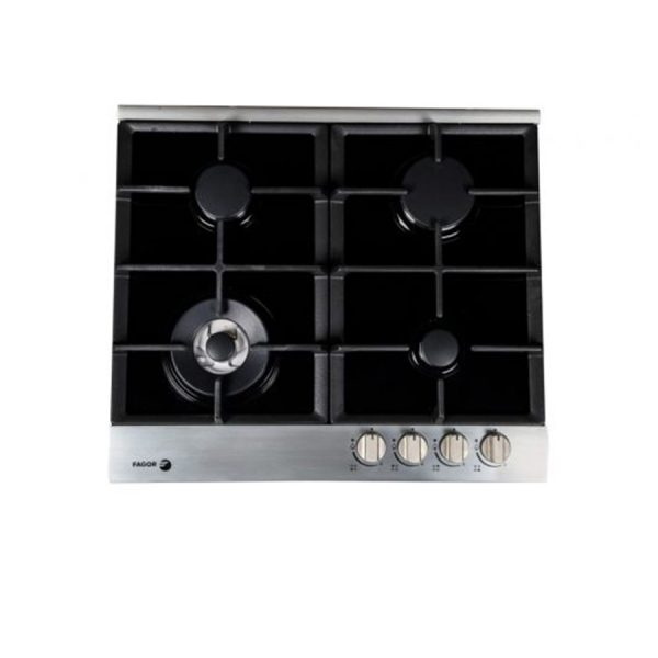fagor-gas-built-in-hob-4-burner-60-cm-black-glass-with-stainless-frame-cast-iron-5cfi-64glstxa