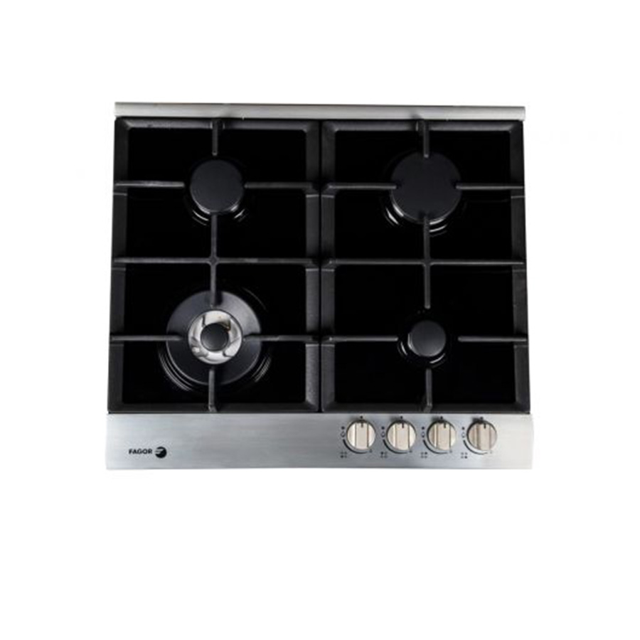 fagor-gas-built-in-hob-4-burner-60-cm-black-glass-with-stainless-frame-cast-iron-5cfi-64glstxa