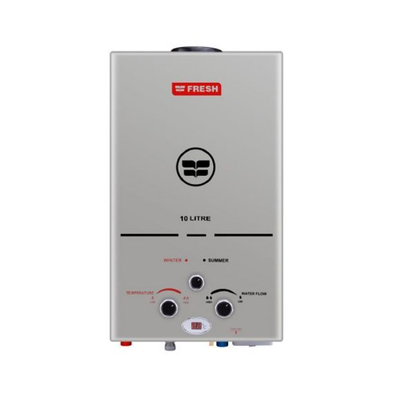 fresh-gas-water-heater-10-liter-silver-with - charger- spa-s10