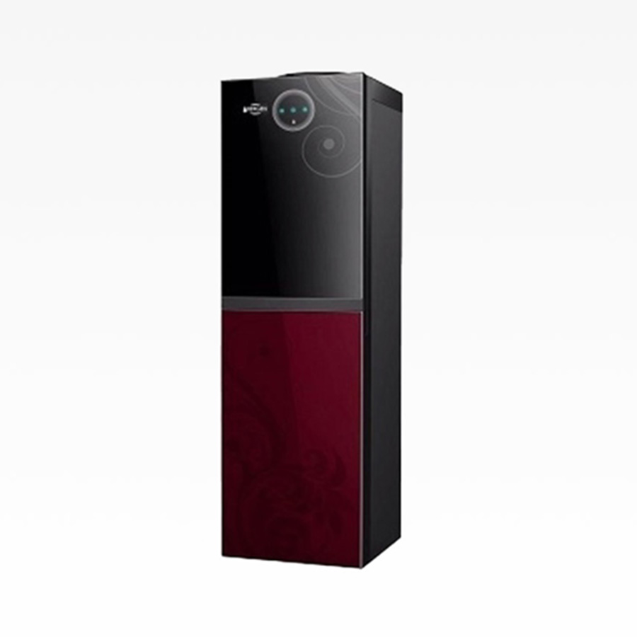 bergen-water-dispenser-3-taps-with-refrigerator-25-feet-black-and-red-byb-538