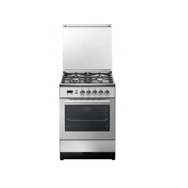 kelvinator- oven-60-cm-4 burners-with-grill-and-fan-stainless-steel-TRENDY